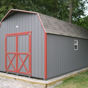 12x20 Hi-Side Barn With Painted T1-11 Siding
